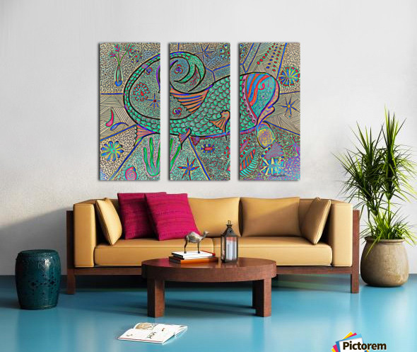 Crazy Fish Split Canvas print