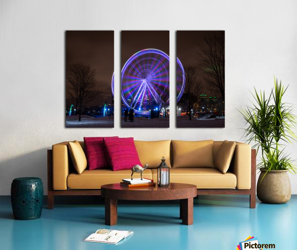 The ferris wheel Split Canvas print