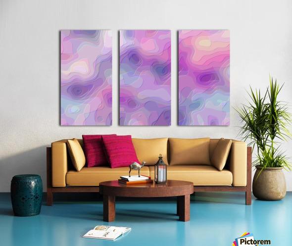 stylish decorating interior bedroom hall Living room 1 Split Canvas print