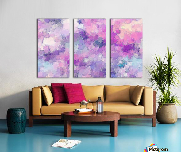 stylish decorating interior bedroom hall Living room 3 Split Canvas print