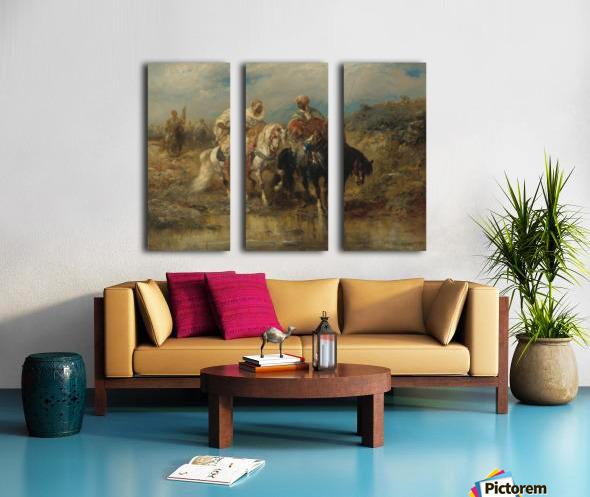 Arab horsemen raiding Split Canvas print
