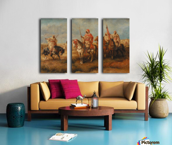 Bedouins on Horseback Split Canvas print