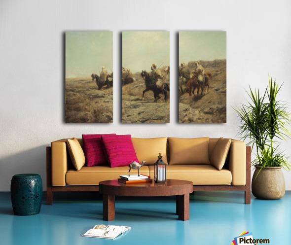 Arabische Krieger Split Canvas print