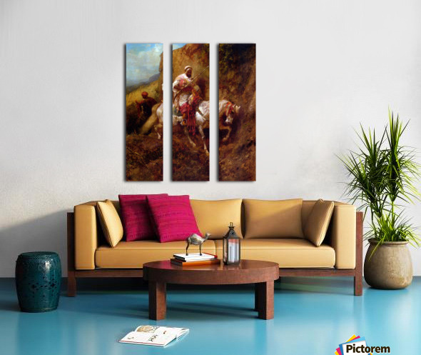 Arab warrior Split Canvas print