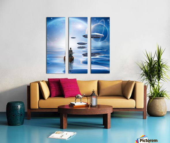 Exosolar Planets Split Canvas print
