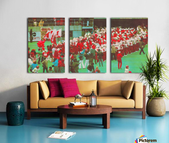 nebraska football art vintage college poster Split Canvas print
