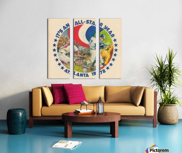 its an all star year atlanta 1972 baseball art Split Canvas print