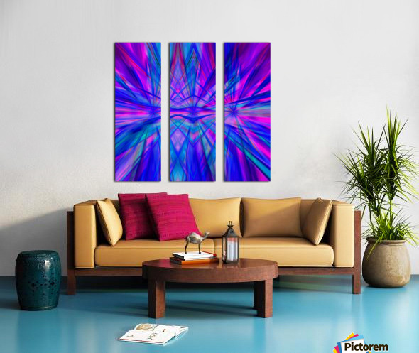High Vitality - pink blue purple line abstract wall art Split Canvas print