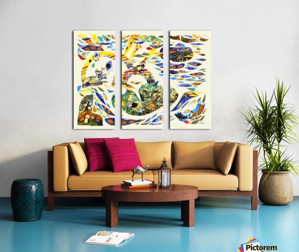 1989 026 Split Canvas print