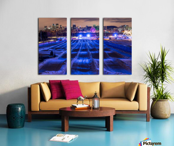 High angle in the slide Split Canvas print