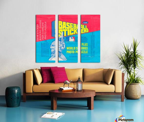 vintage fleer mlb baseball sticker package art design reproduction art Split Canvas print