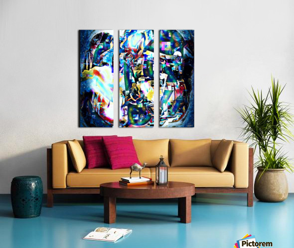 Dance Of Creative Mind  Split Canvas print