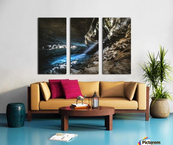 The Blue Cave Split Canvas print