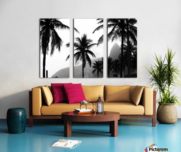 Ipanema B&W Split Canvas print