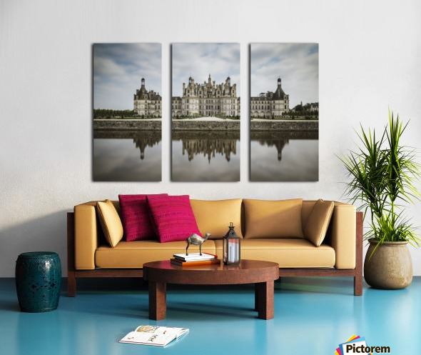 Chateau Chambord  Split Canvas print