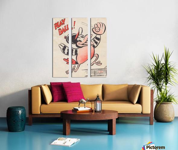 baltimore orioles posters wall art play ball art cartoon baseball print metal canvas acrylic artwork Toile Multi-Panneaux