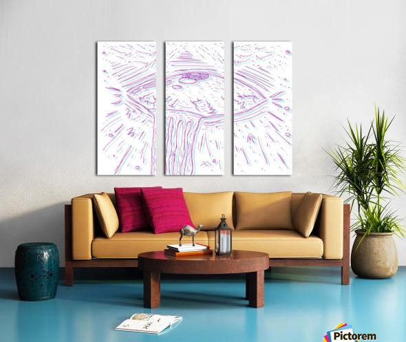 Cosmic Interferenss Split Canvas print