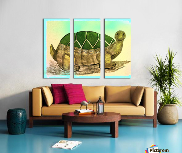 Turtle  Split Canvas print