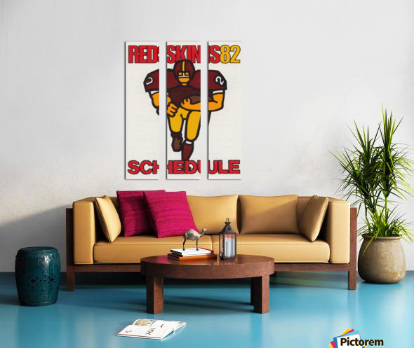 1982 Washington Redskins NFL Football Schedule Art Poster Row One Brand Split Canvas print