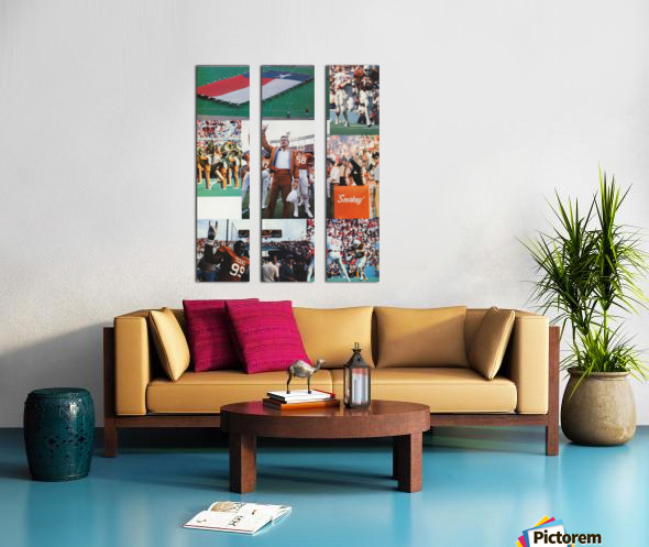 Texas Longhorns Football Poster_Texas Longhorn College Football Photo Collage Split Canvas print