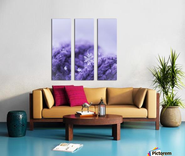 Purple Snowflakes Split Canvas print