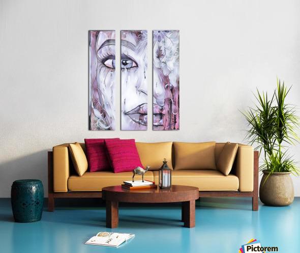 Femme a plumes Split Canvas print