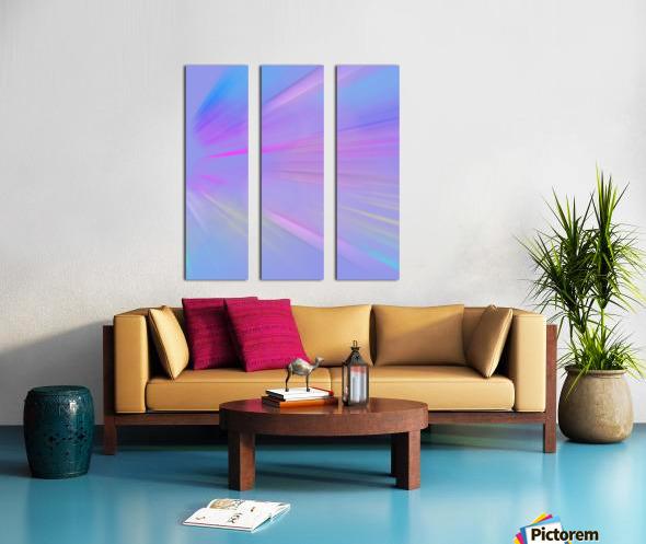 Purple Comet Split Canvas print