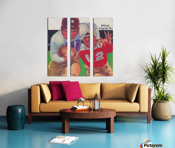 Vintage Football Framed Program Cover Art Posters (1937) Split Canvas print