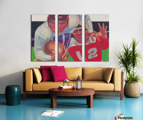 Vintage Football Fine Art Prints_ Old Football Art Poster Split Canvas print