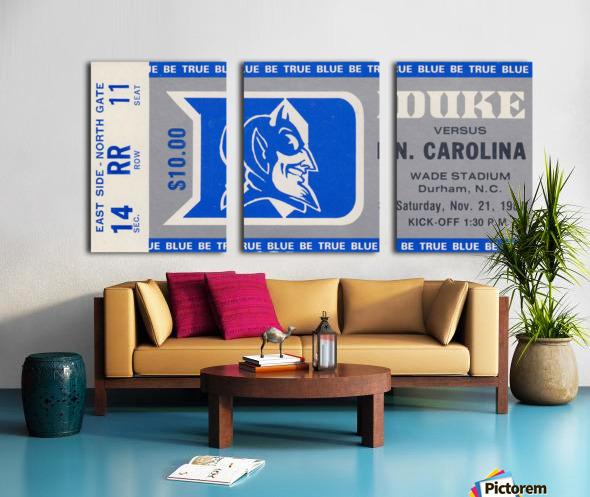 1981 Duke vs. North Carolina Split Canvas print