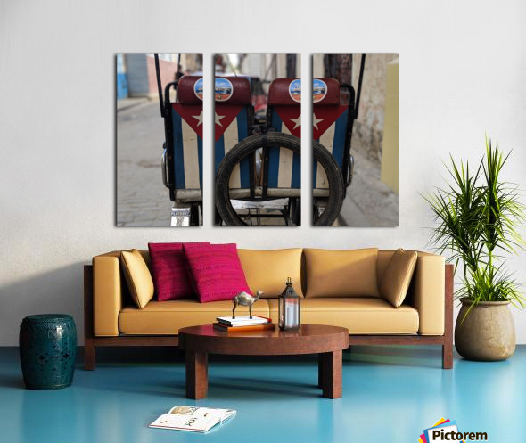 Cuban Bicycle Taxi Split Canvas print