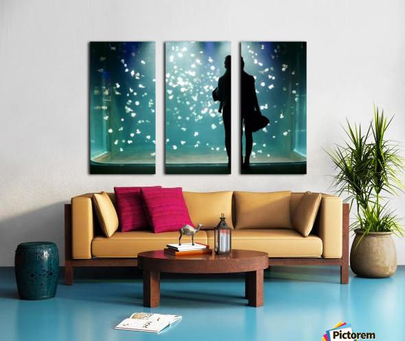 Aquarium Split Canvas print