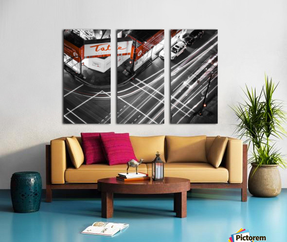 Street long exposure Split Canvas print