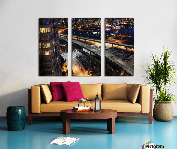 Science Workd at night Split Canvas print