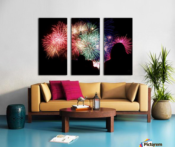 Fireworks Split Canvas print