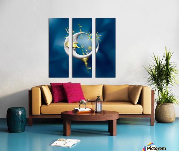Marcelluna Metalli Split Canvas print