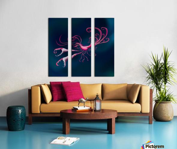 Aragosta Rosa Split Canvas print