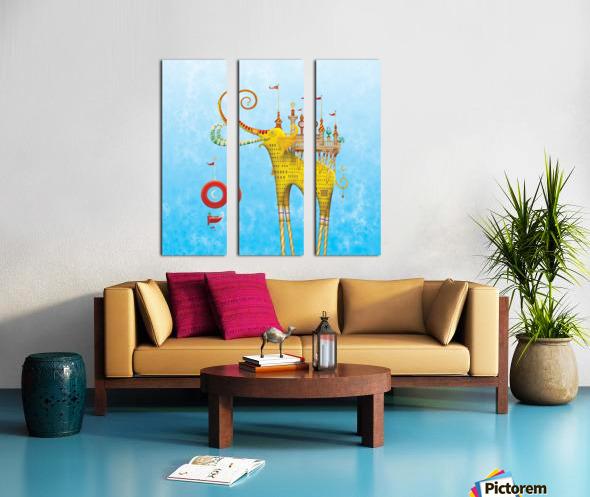 Castellini Elephantini Dorado Split Canvas print