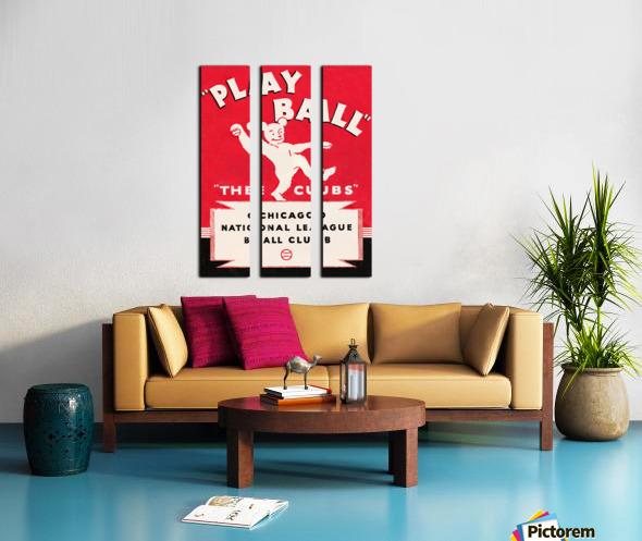 1934 Chicago Cubs  Split Canvas print