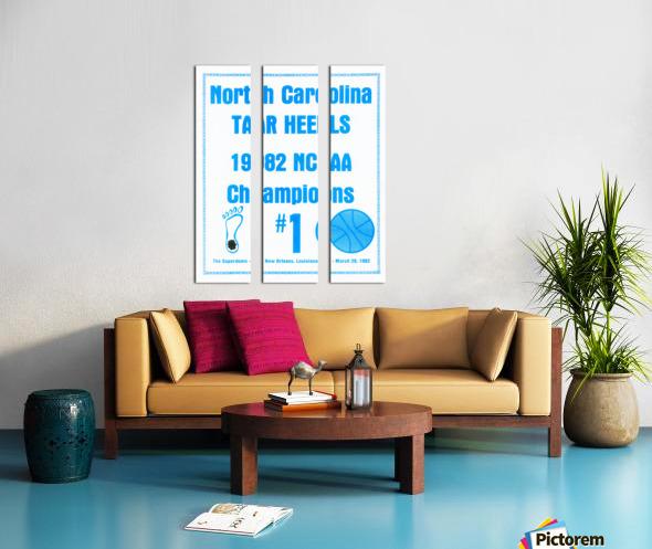 1982 North Carolina Tar Heels NCAA Champions Poster Reproduction Art Split Canvas print