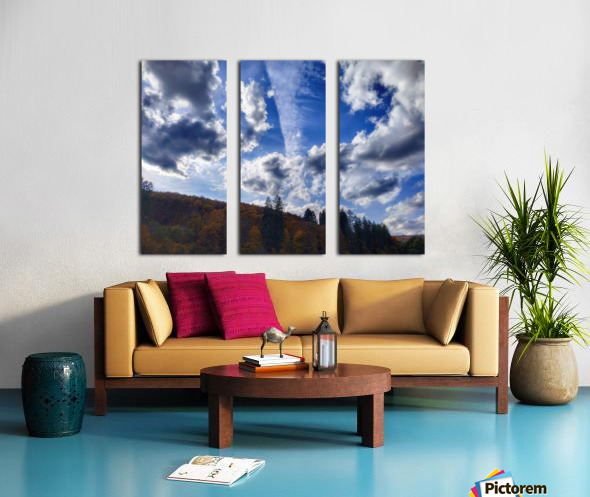 Cloudscape Split Canvas print