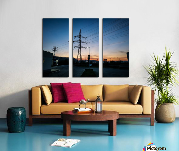 Industrial sunset Split Canvas print