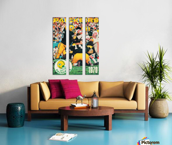 Green Bay Packers Football Poster Row One Brand Sports Art Split Canvas print