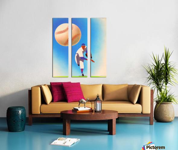 Baseball Pitcher Art Split Canvas print