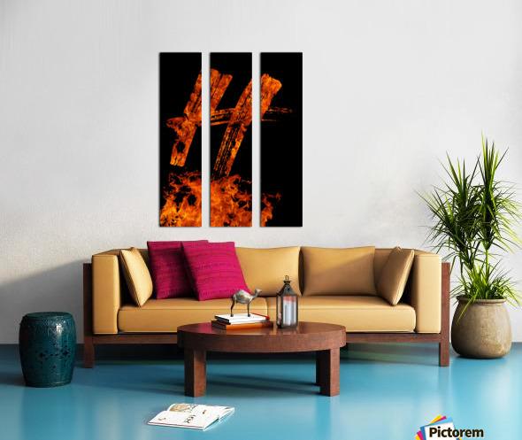 Burning on Fire Letter H Split Canvas print