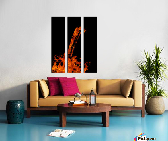 Burning on Fire Letter I Split Canvas print