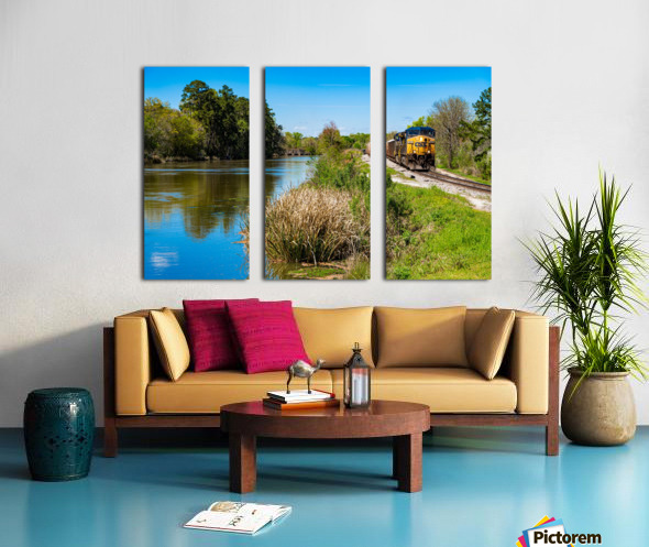 CSX Train along the Augusta Canal GA 02909 Split Canvas print