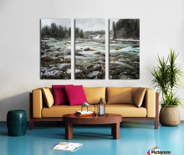 River in Winter Split Canvas print