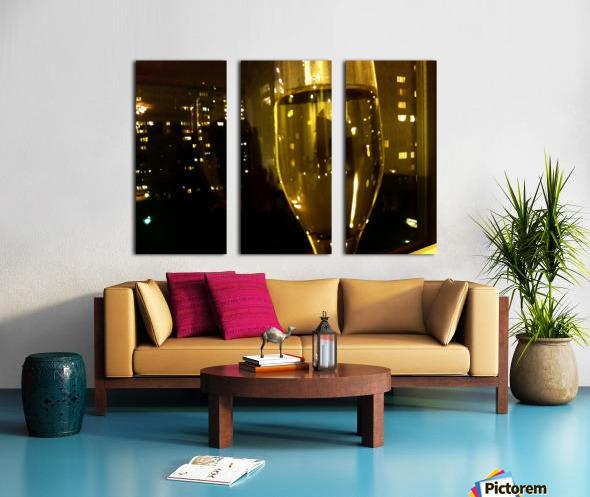 Champagne 4 Split Canvas print