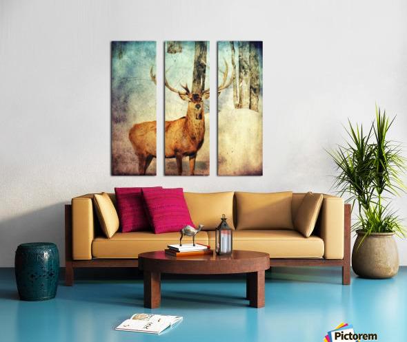 Dans les bois Split Canvas print